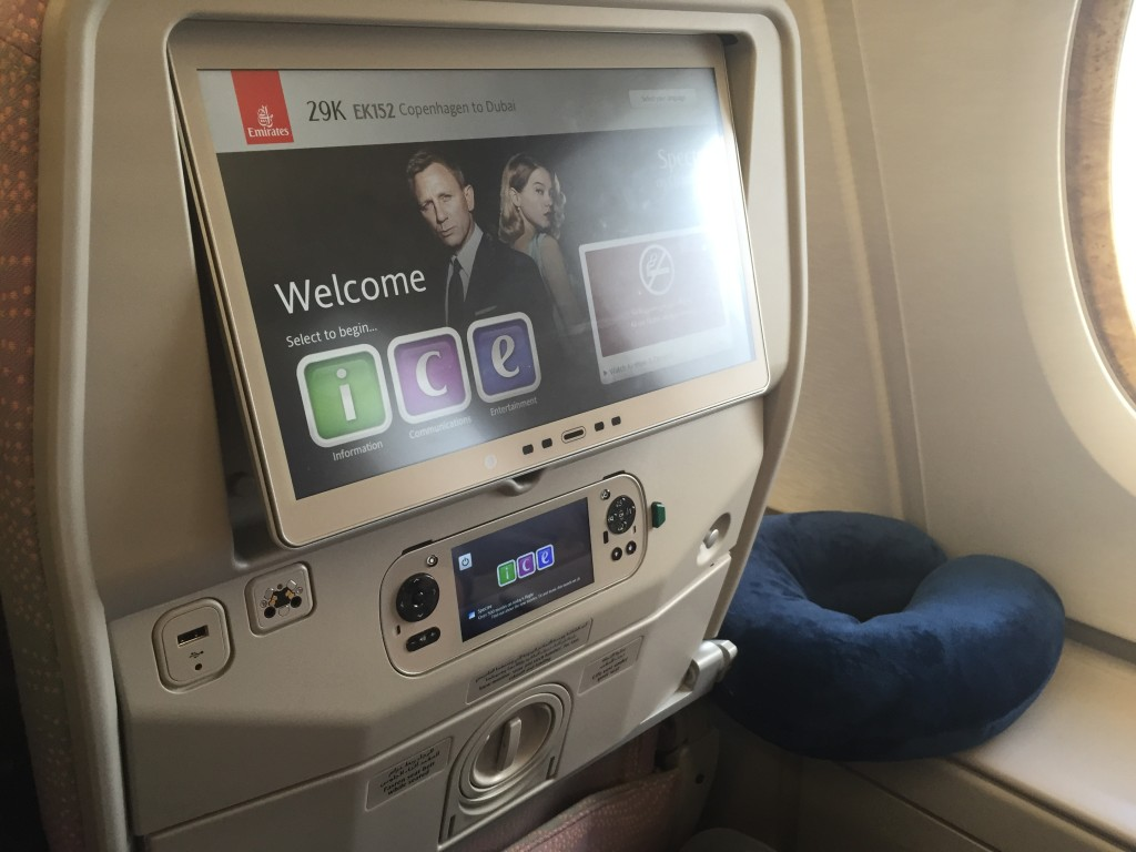 skærmen i emirates a380